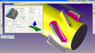 5-akselisen simultaanijyrsinnän kanssa suosittelemme konesimulointi-moduulia.